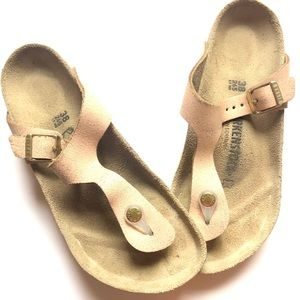 BIRKENSTOCK • Rose Gold Metallic Sandals • Sz 38
